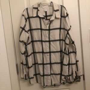 H&M Black & White Flannel